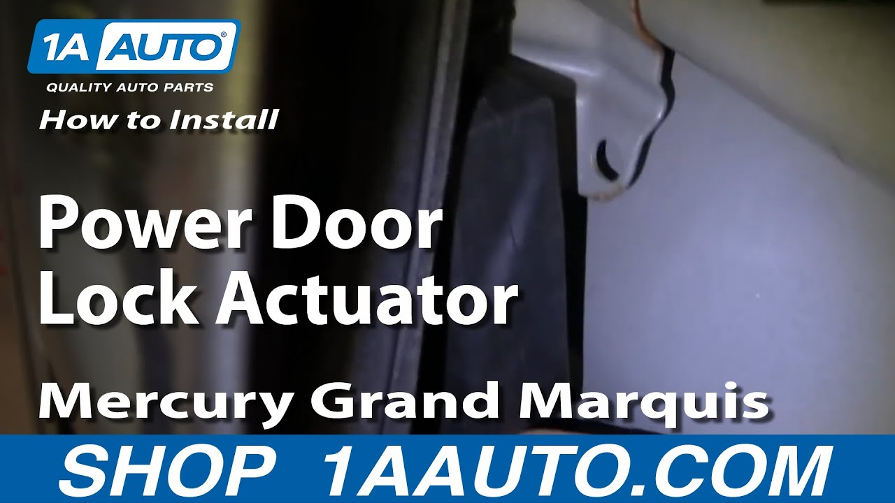 how to replace power door lock actuator 92-03 mercury grand marquis | 1a  auto