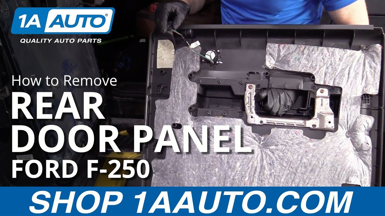 How to Remove Rear Door Panel 11-16 Ford F250