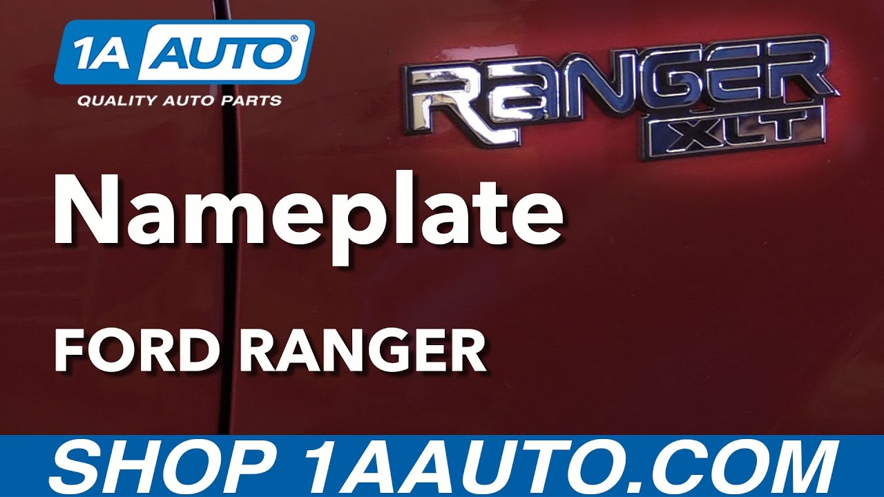 How to Replace Nameplate Badge Emblem 96-05 Ford Ranger