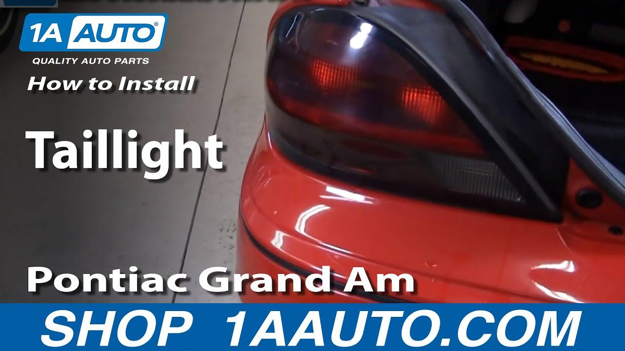 How to Replace Tail Light 99-05 Pontiac Grand Am