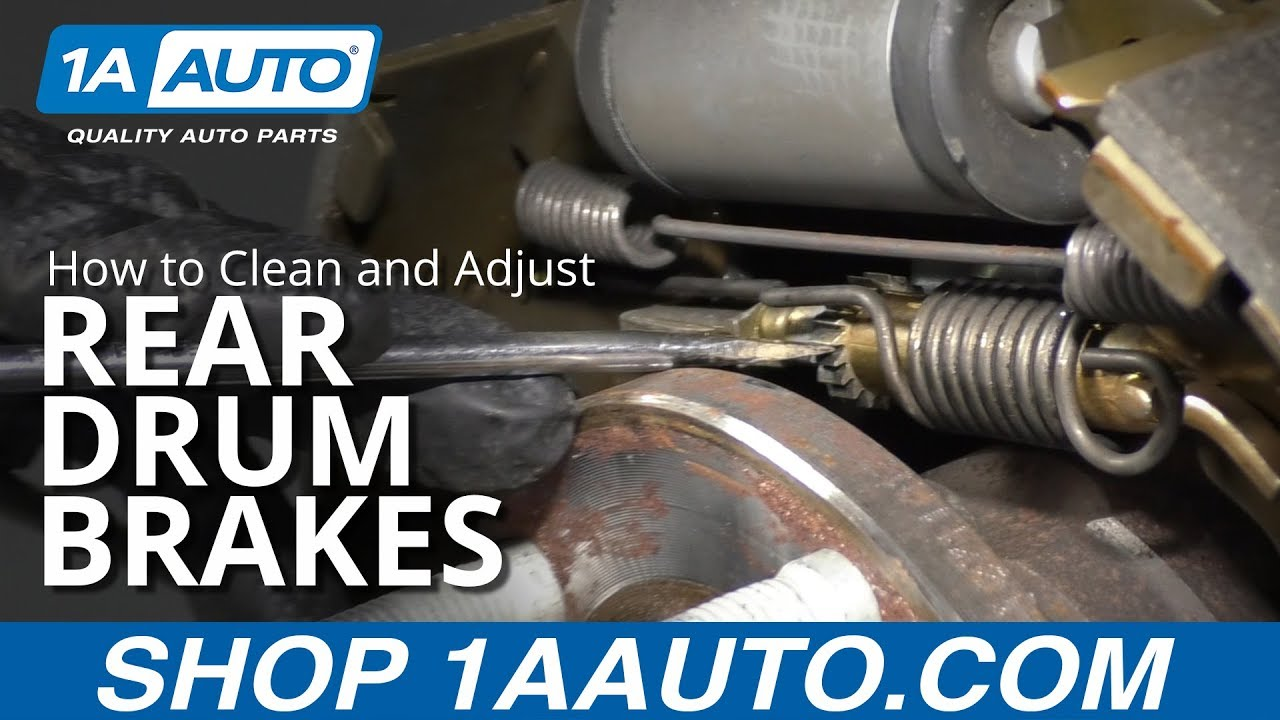 How to Clean and Adjust Rear Drum Brakes