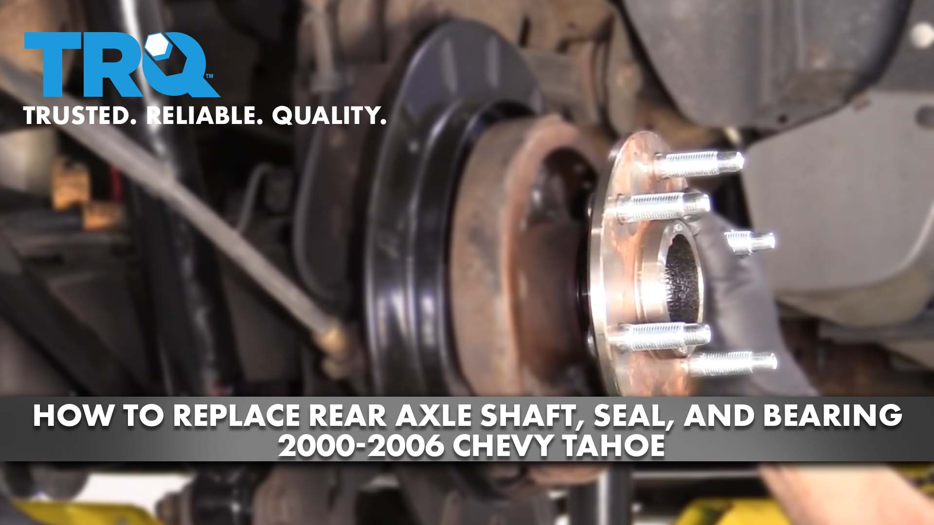 How to Replace Rear Axle Shaft, Seal, and Bearing 2000-06 Chevy Tahoe