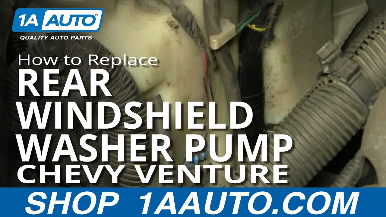 How to Replace Rear Windshield Washer Pump 97-05 Chevy Venture