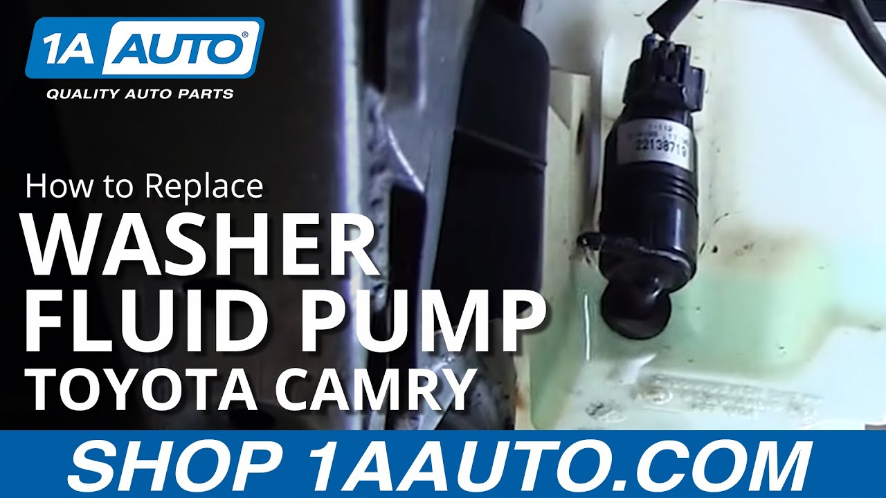 How to Replace Washer Pump 97-01 Toyota Camry