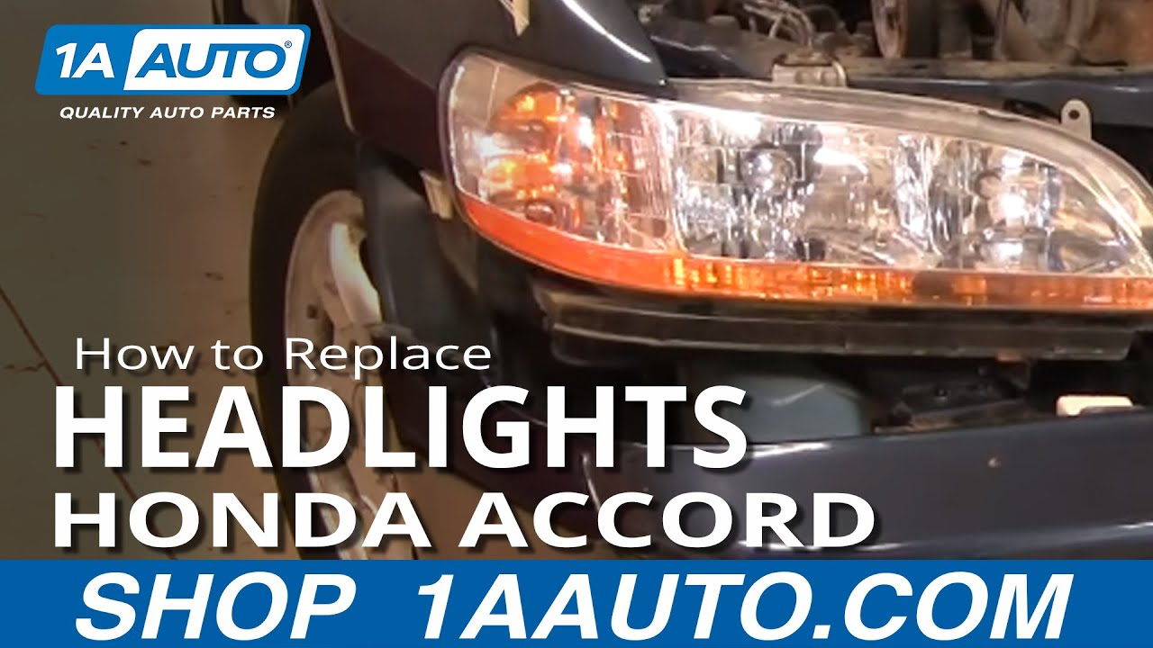How To Replace Headlights 01 02 Honda Accord 1a Auto