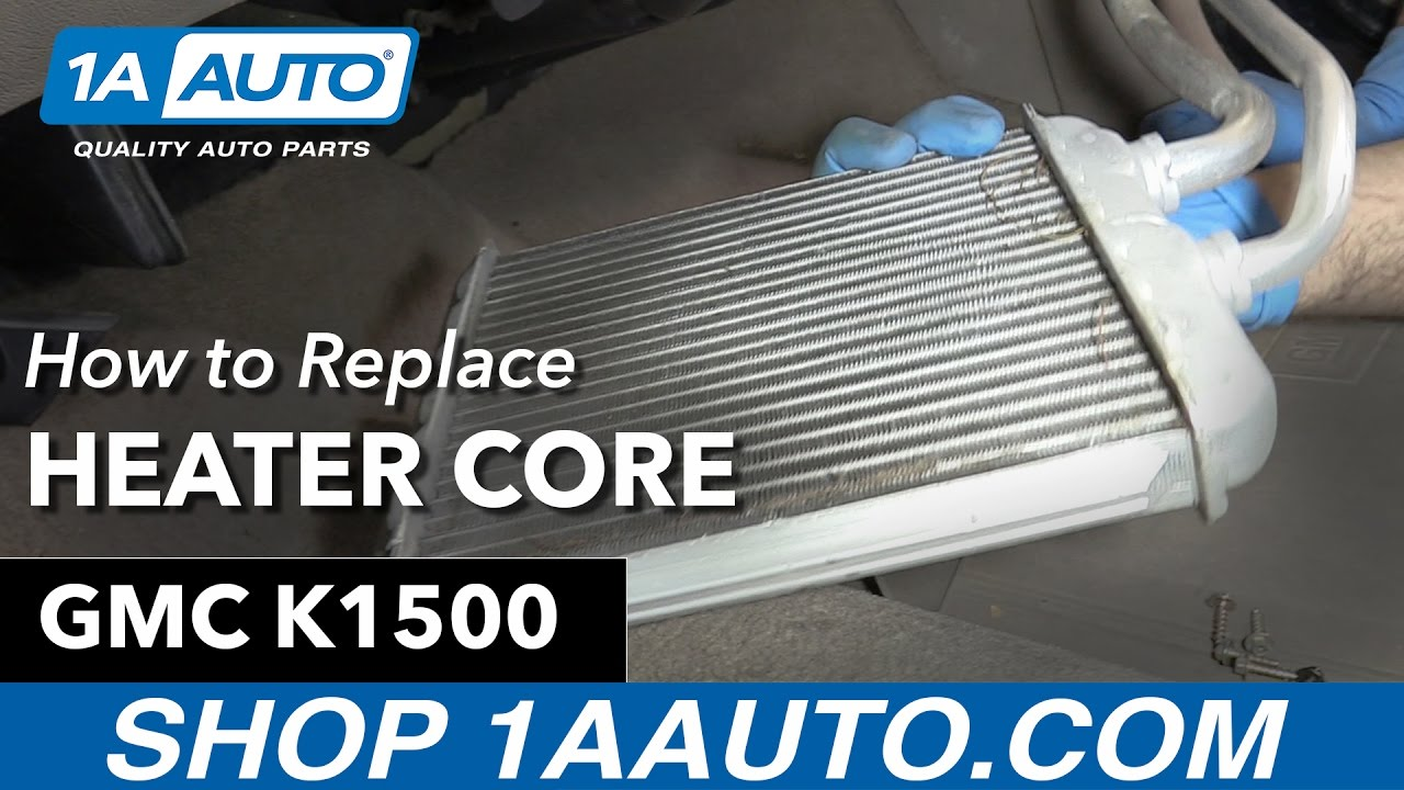 how to replace heater core 91 98 gmc k1500
