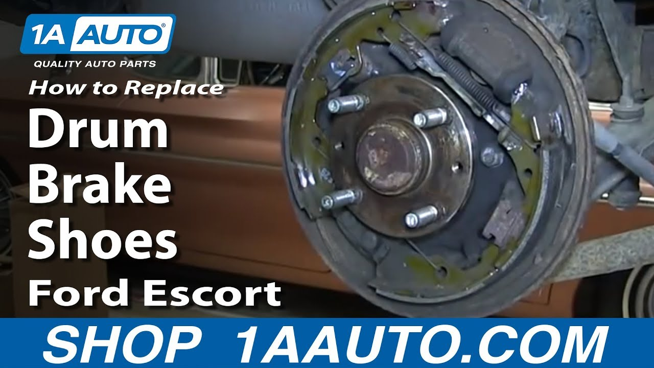 How to Replace Brake Shoes 91-03 Ford Escort