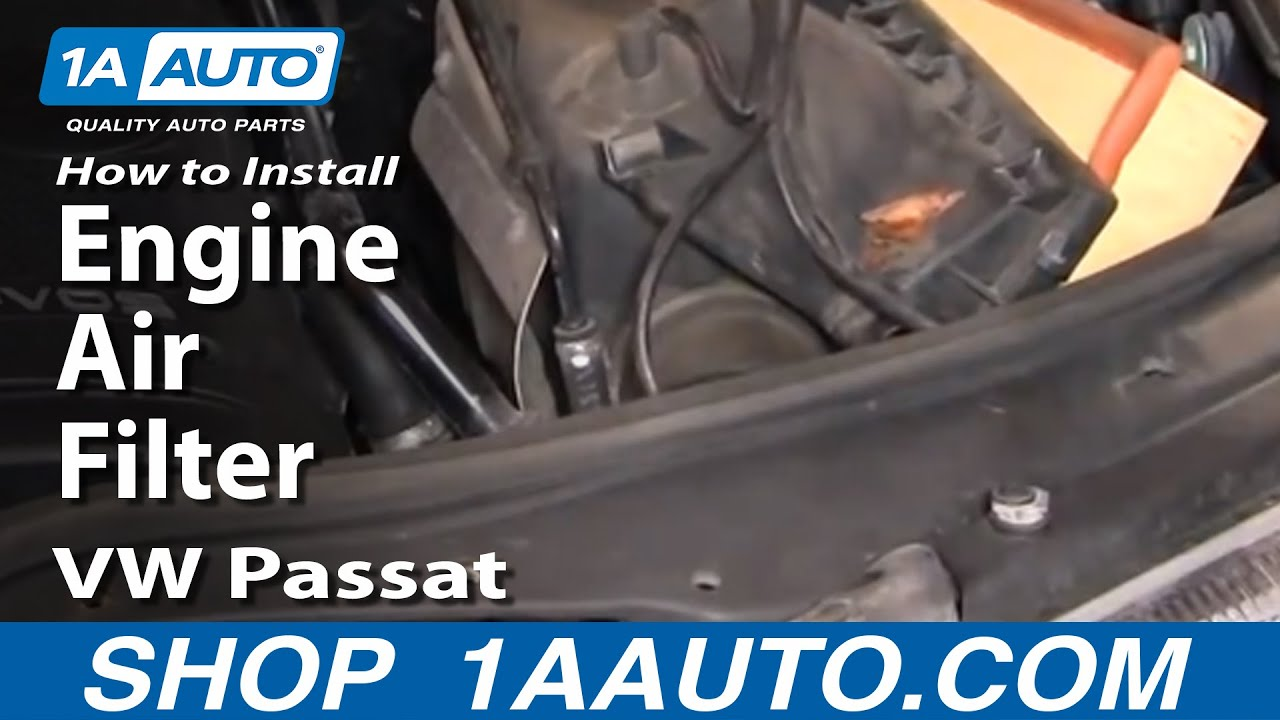 How To Replace Engine Air Filter 98-05 VW Passat 1.8L 20V Turbo