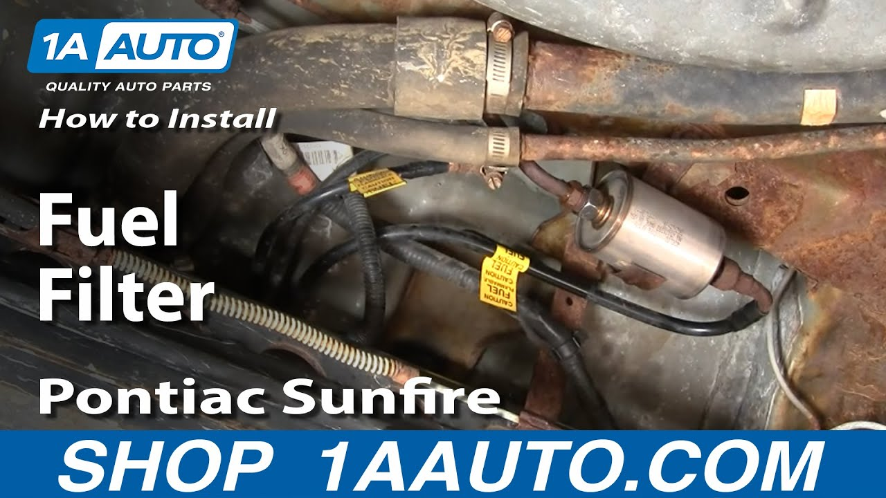 how to replace fuel filter 95-05 pontiac sunfire | 1a auto  1a auto