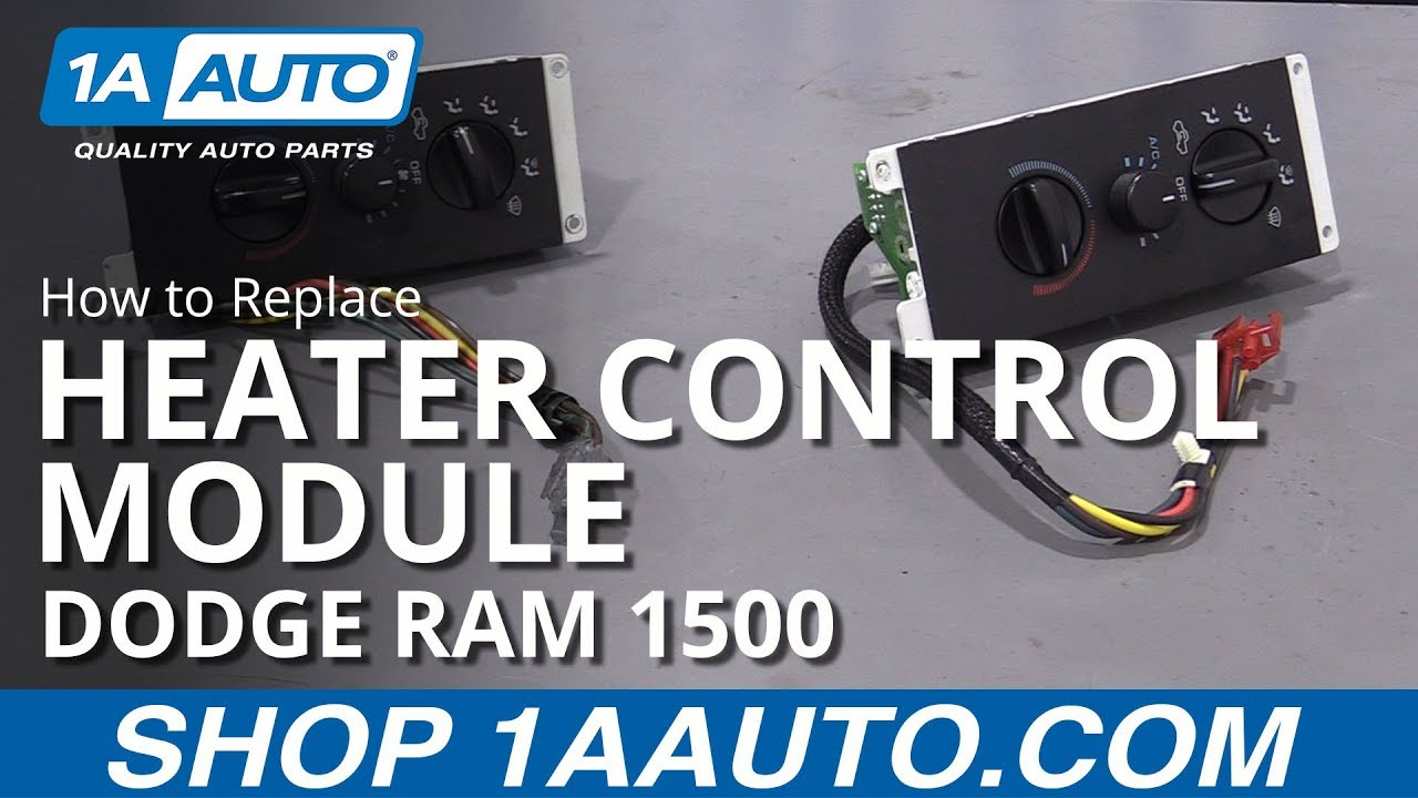 How to Replace Heater Control Module 94-02 Dodge Ram 1500