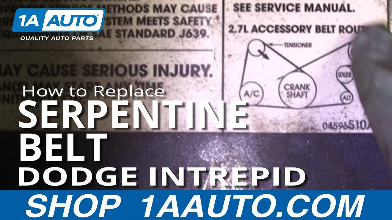 how to replace serpentine belt 98 04 dodge intrepid 1a auto2004 Dodge Intrepid Wiring Diagram #16